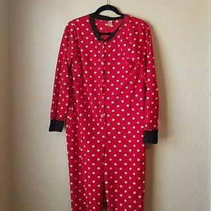 Red Polka Dotted Adult Onesie